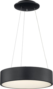 "18""W Orbit 1-Light Pendant Black"