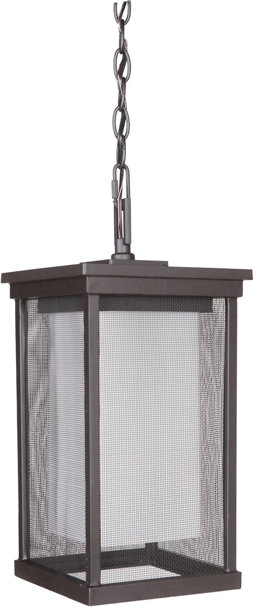 "8""W Riviera II 1-Light Outdoor Pendant Oiled Bronze"