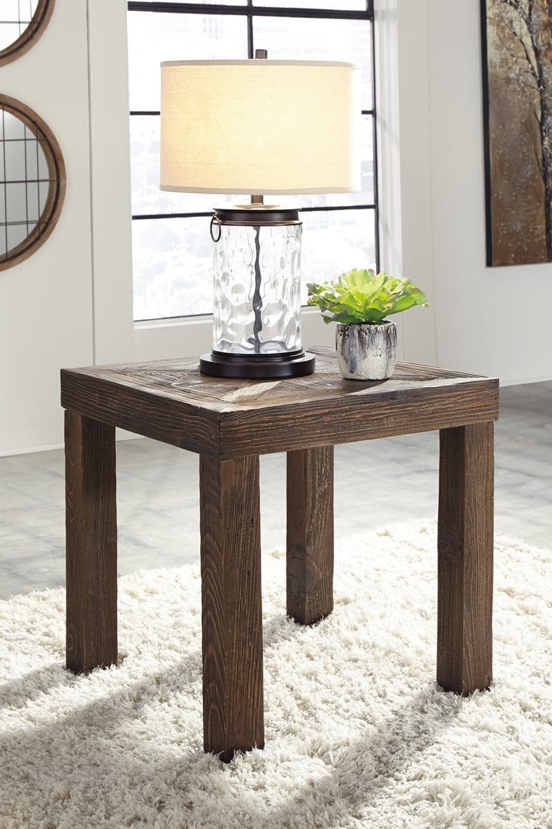 Ossereene Square End Table Brown