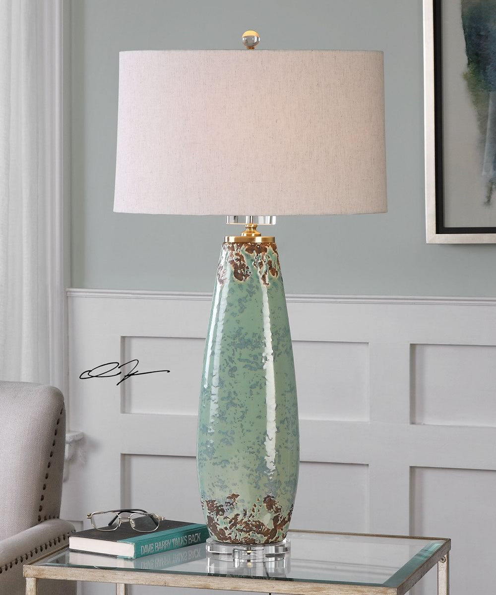 "35""H Rovasenda Mint Green Table Lamp"