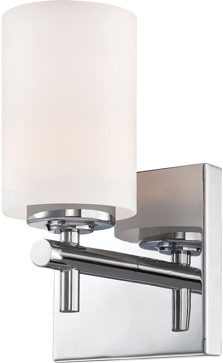 "5""W Barro 1-Light Vanity Chrome/White Opal Glass"