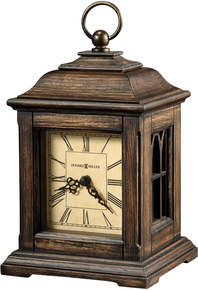 "9.25""h Talia Mantel Clock Antique Oak"