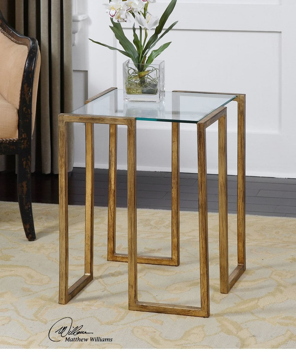 "22""H Mirrin Accent Table"