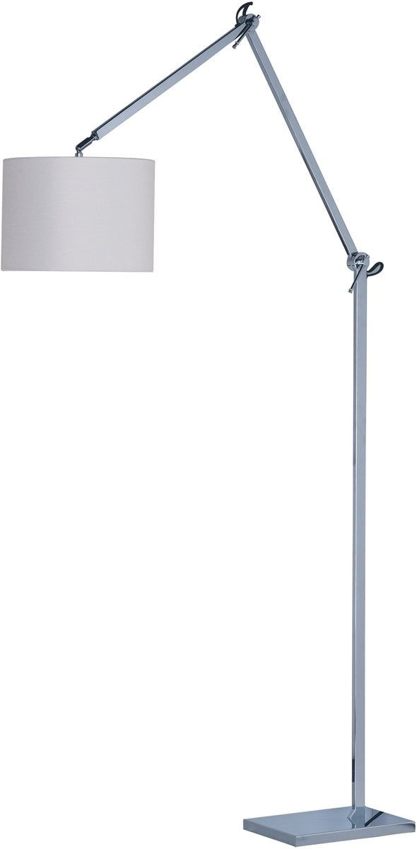 Hotel LED 1-Light Floor Lamp Polished Chrome