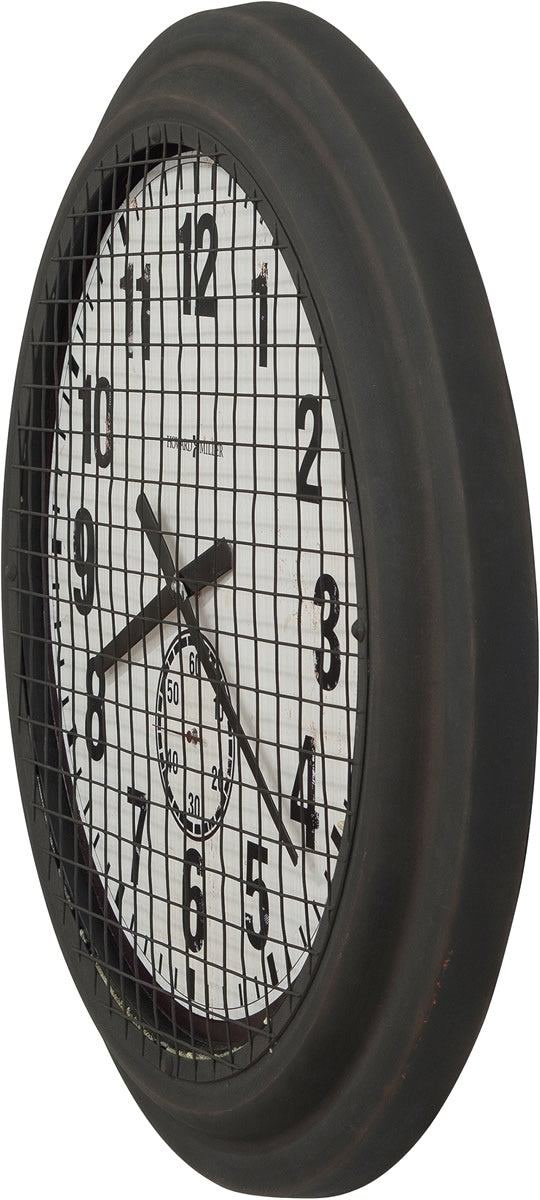 "25.75""h Grid Iron Works Wall Clock Rusty Brown"
