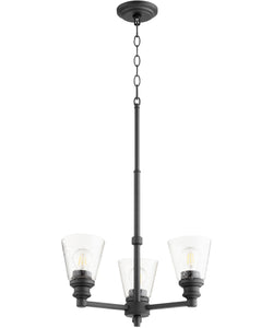 Dunbar 3-light Chandelier Noir