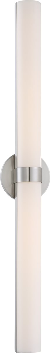 "6""W Bond 2-Light Vanity & Wall Brushed Nickel"