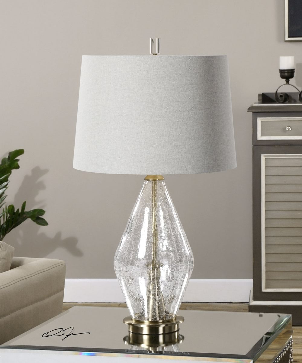 "29""H Spezzano Crackled Glass Lamp"