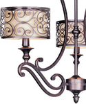 Maxim Mondrian 3-Light Single-Tier Chandelier Umber Bronze 21153WHUB