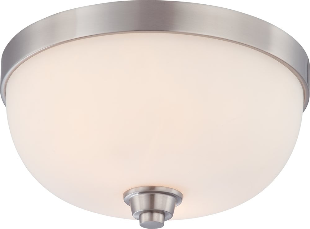 "13""W Helium 2-Light Close-to-Ceiling Brushed Nickel"