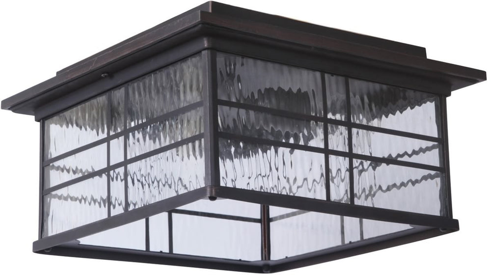 Dorset 2-Light Outdoor Flush Mount Aged Bronze Brushed