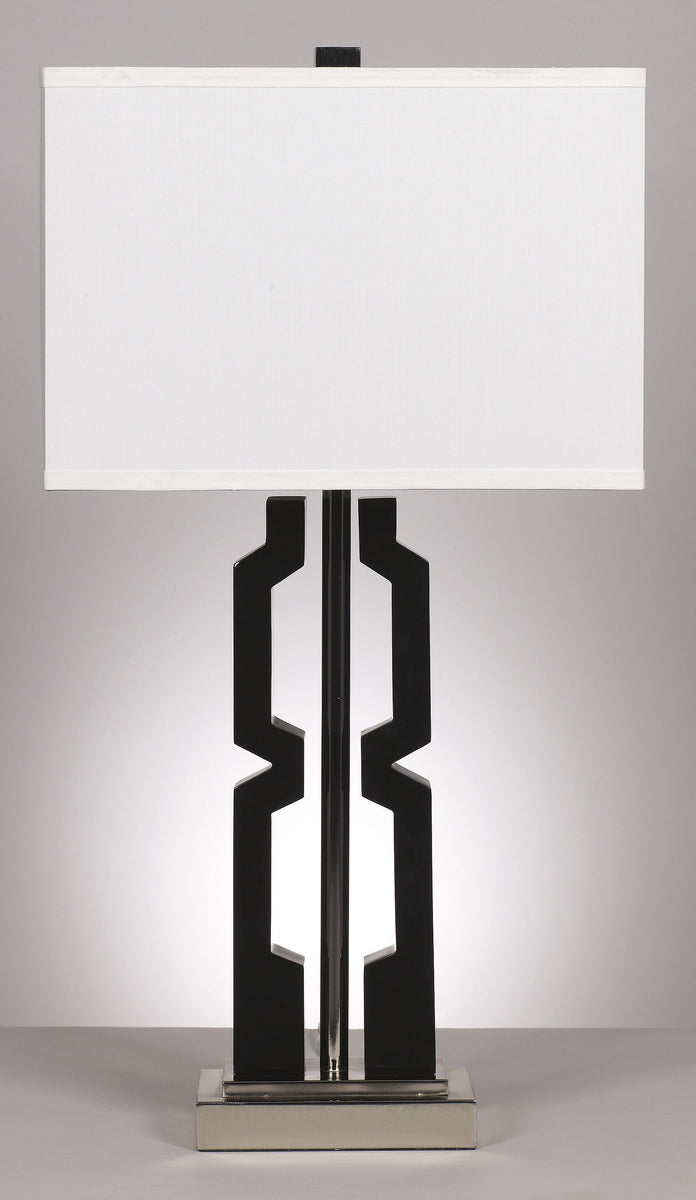 Set of 2 Mitzi Table Lamps Black/Silver