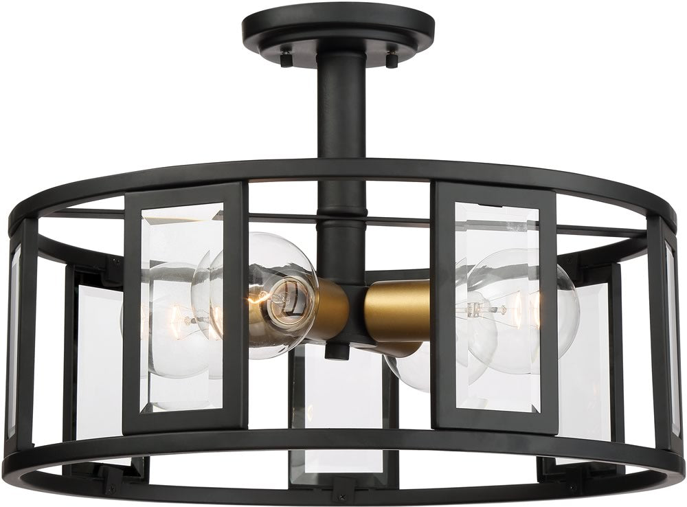 "17""W Payne 4-Light Close-to-Ceiling Midnight Bronze"