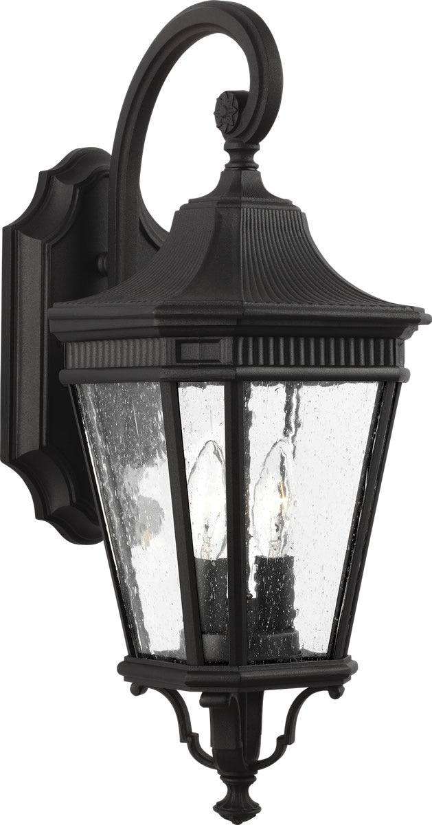 Cotswold lane 2 light wall lantern black