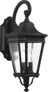 0-002105>Cotswold Lane 2-Light Wall Lantern Black