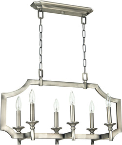 0-007355>Lisbon 6-Light Chandelier Antique Nickel