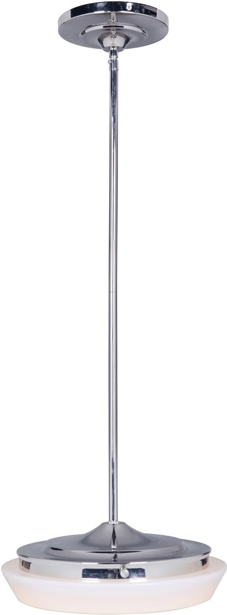 "12""W 1-Light LED Pendant Light w/Rods Polished Nickel"