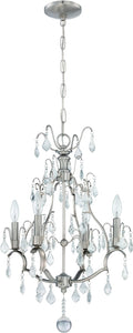 0-003630>4-Light Mini Chandelier Brushed Nickel