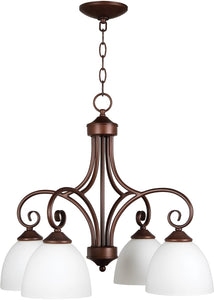 Raleigh 4-Light Down Chandelier Old Bronze