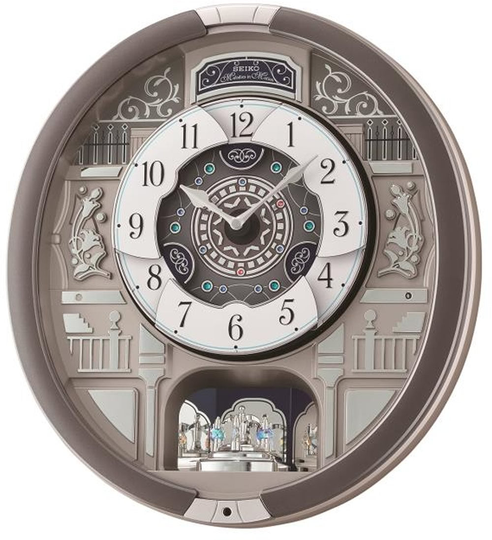 Melodies in Motion Clock  with 18 Hi Fi Melodies  Rotating Pendulum