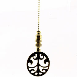 Polished Brass Tree Fan Pull