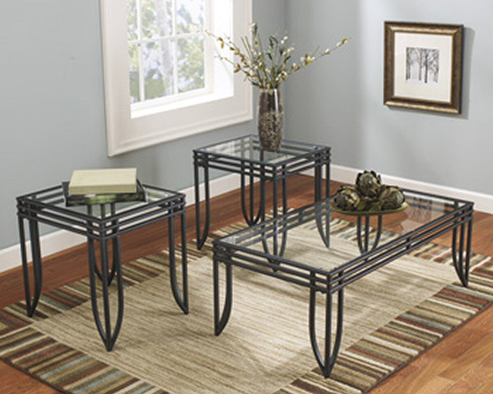 Exeter Occasional Table (Set of 3) Black/Brown