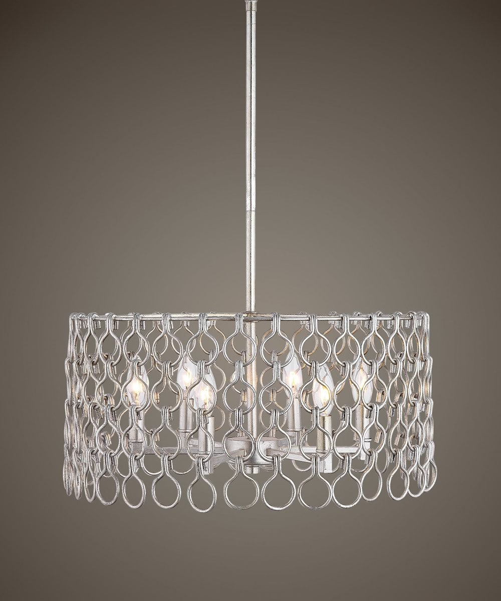 "21""W Maille 6 Light Champagne Pendant"
