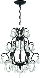 0-009969>3-Light Mini Chandelier Espresso