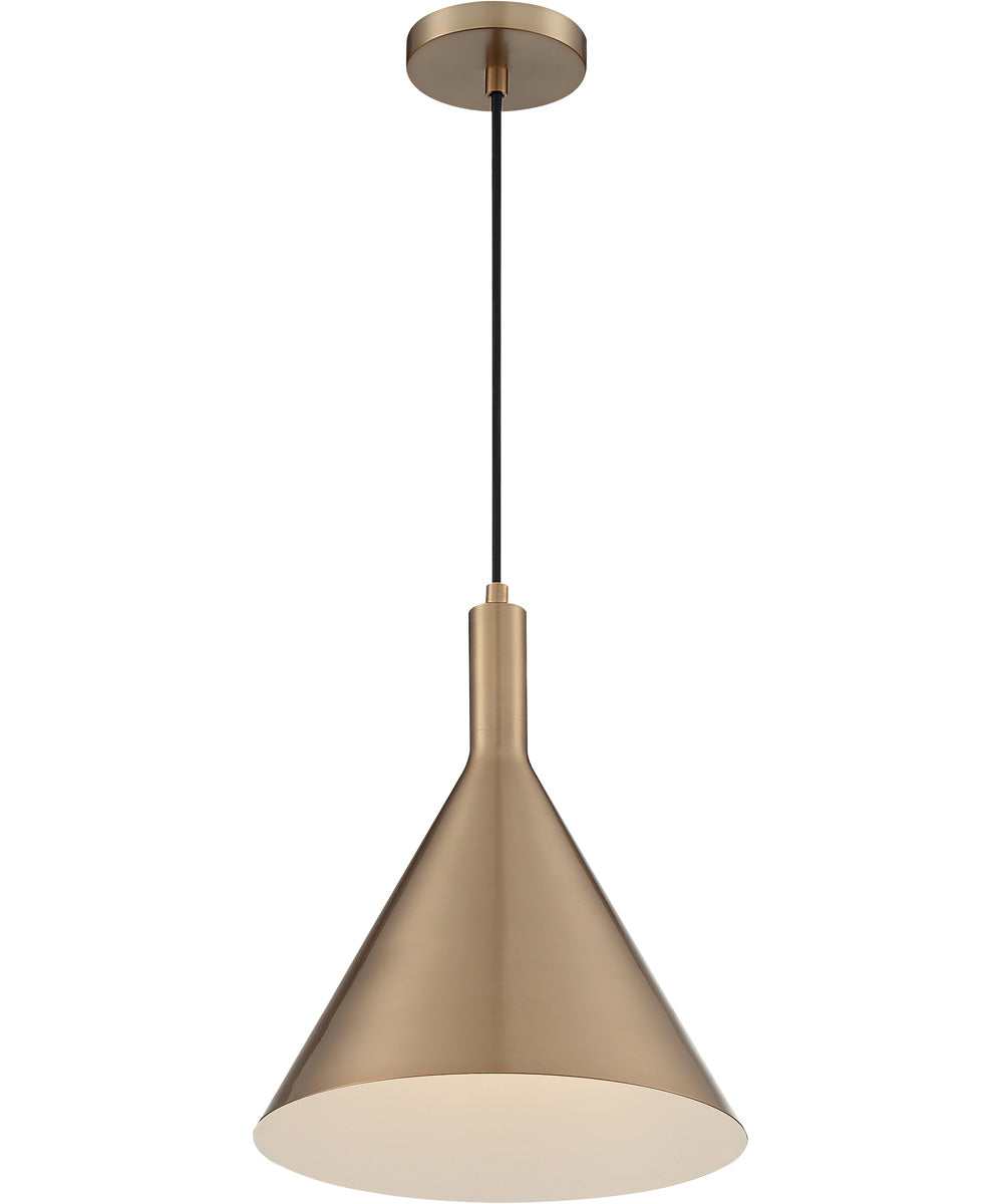 "12""W Lightcap 1-Light Pendant Burnished Brass"