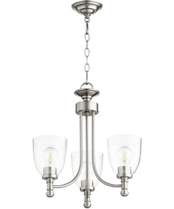 Rossington 3-light Chandelier Satin Nickel w/ Clear/Seeded