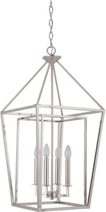 0-002104>Hudson 4-Light Foyer Light Polished Nickel