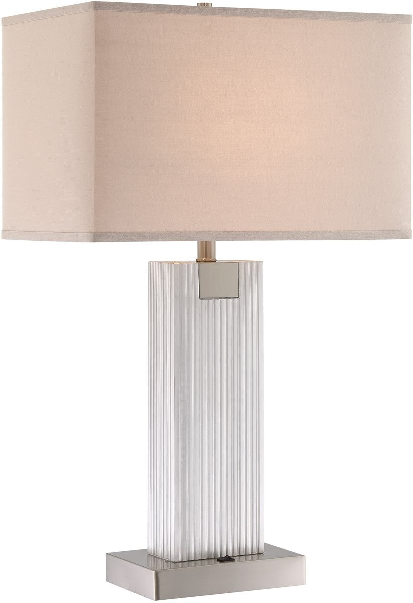 "30""H Clifton 2-light Table Lamp Brushed Nickel"