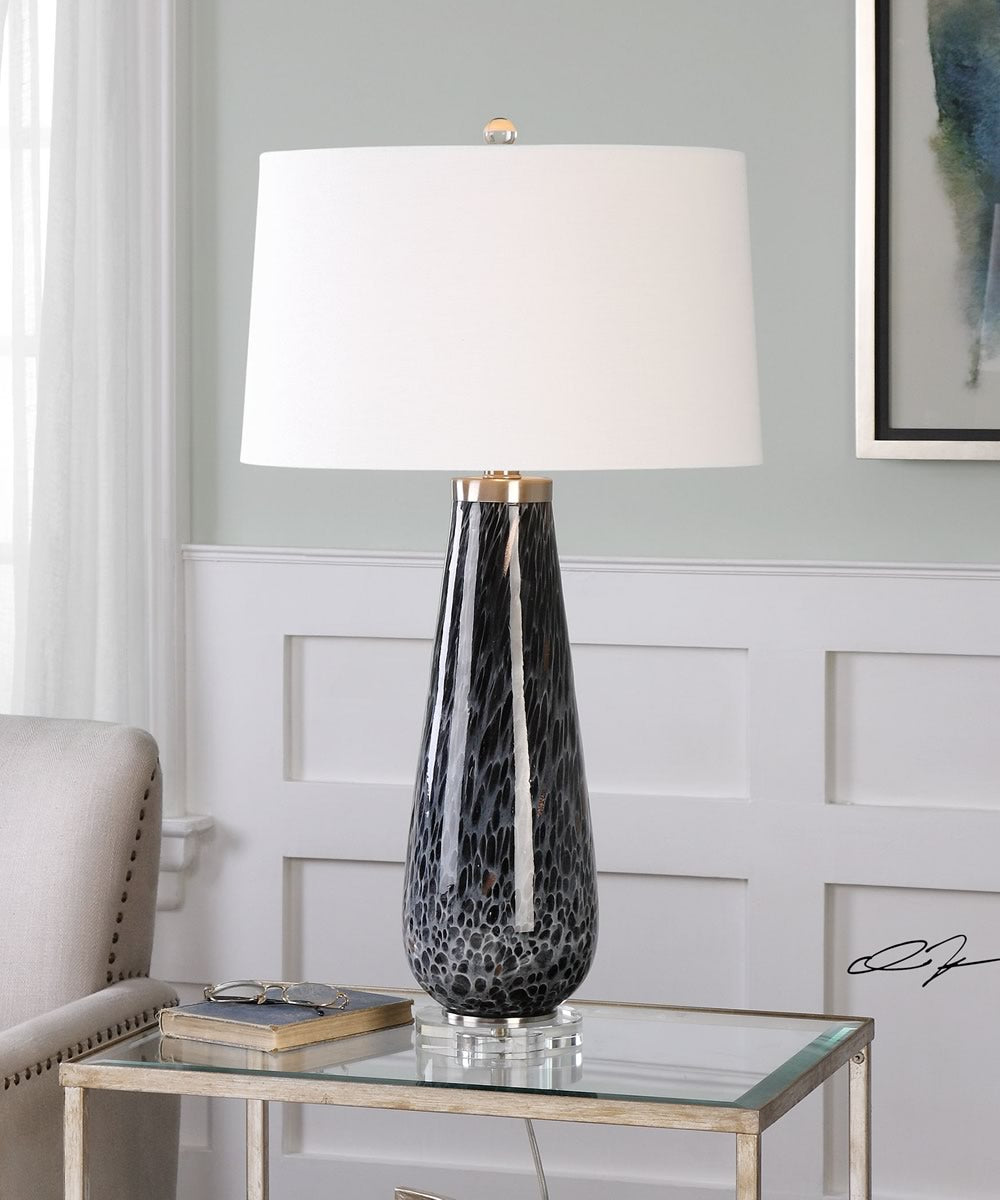 "32""H Marchiazza Dark Charcoal Table Lamp"