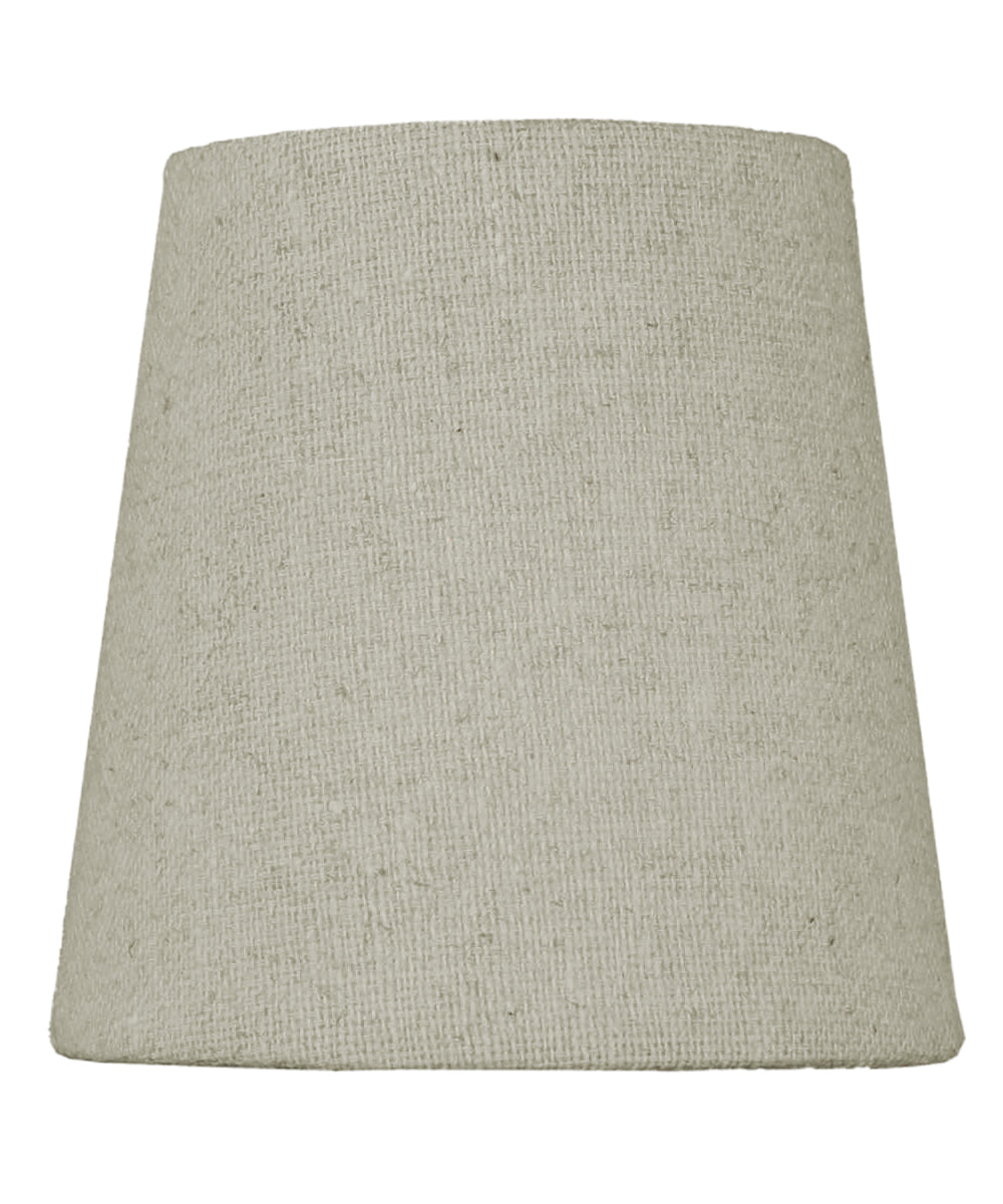 "4""W x 4""H Chandelier Sand Linen Clip-On Lampshade"