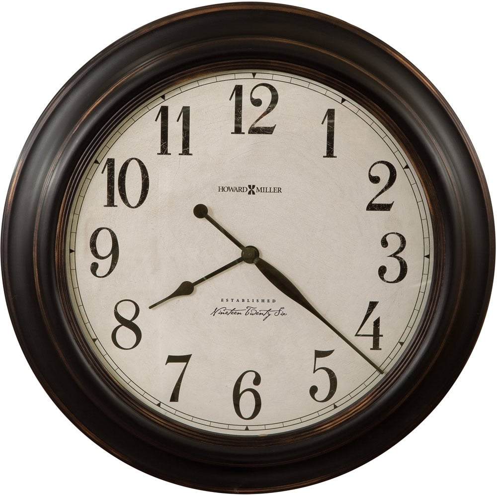 "30""H Ashby Wall Clock Aged Black"