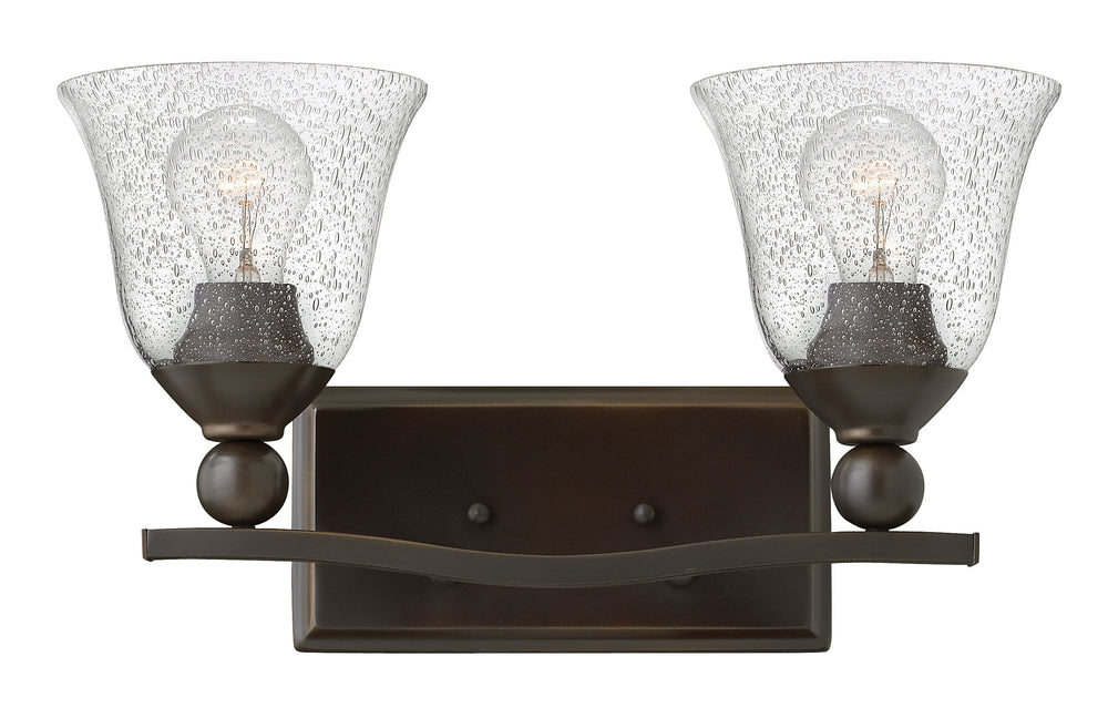 "16""W Bolla 2-Light Bath Two Light in Olde Bronze with Clear Seedy"
