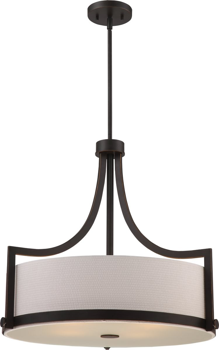 "24""W Meadow 4-Light Pendant Russet Bronze"