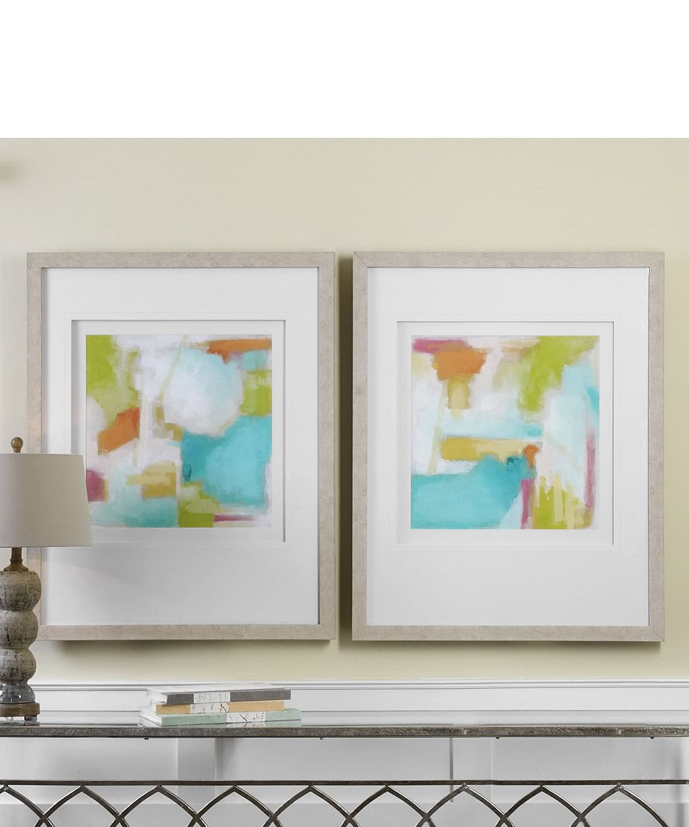 Color Space Watercolor Prints Set of 2