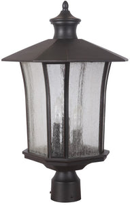 0-012910>Chateau 3-Light Outdoor Post Light Oiled Bronze Gilded