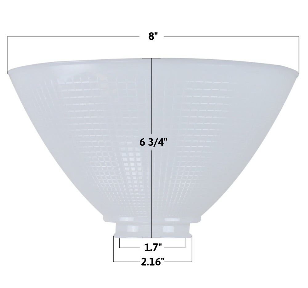 "8""W x 6""H Reflector-Type IES Replacement Shade for Stiffel"