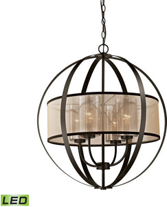Diffusion 4-Light LED Chandelier Oil Rubbed Bronze
