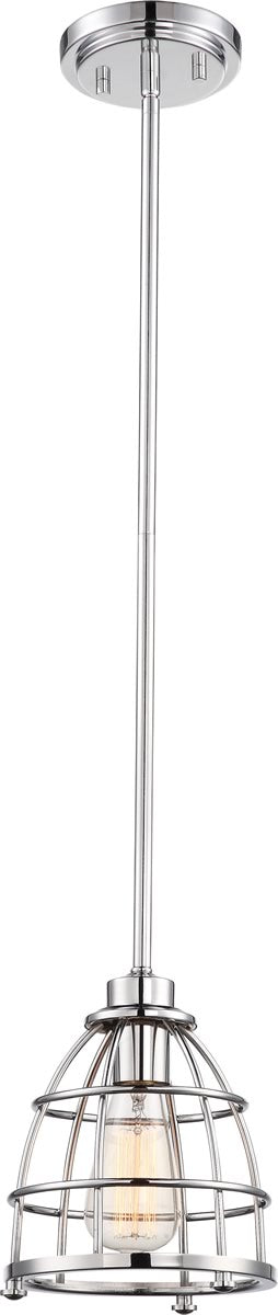 "7""W Maxx 1-Light Pendant Polished Nickel"
