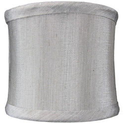 "4""W  x 4""H Crisp Shantung Clip-On Sconce  Half-Shell Lamp shade Grey"