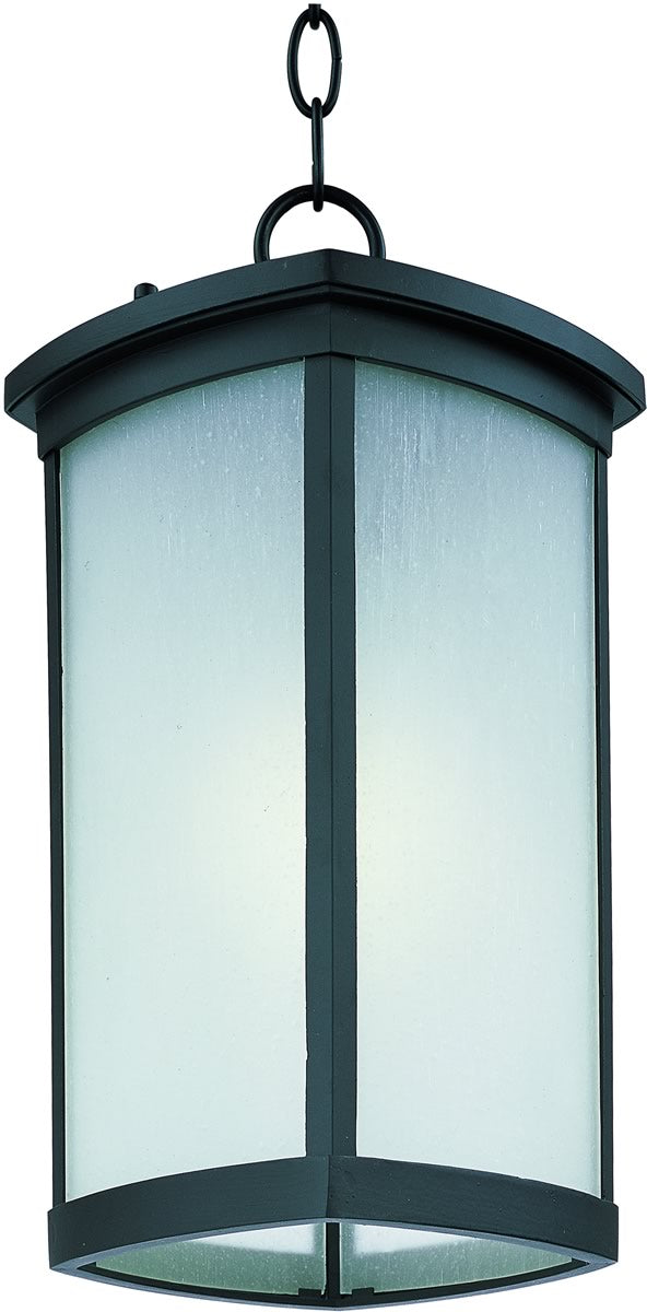 "8""W Terrace LED 1-Light Outdoor Hanging Lantern Bronze"