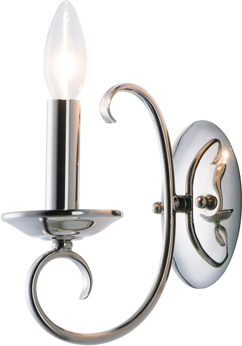 "5""W Loft 1-Light Wall Sconce Polished Nickel"