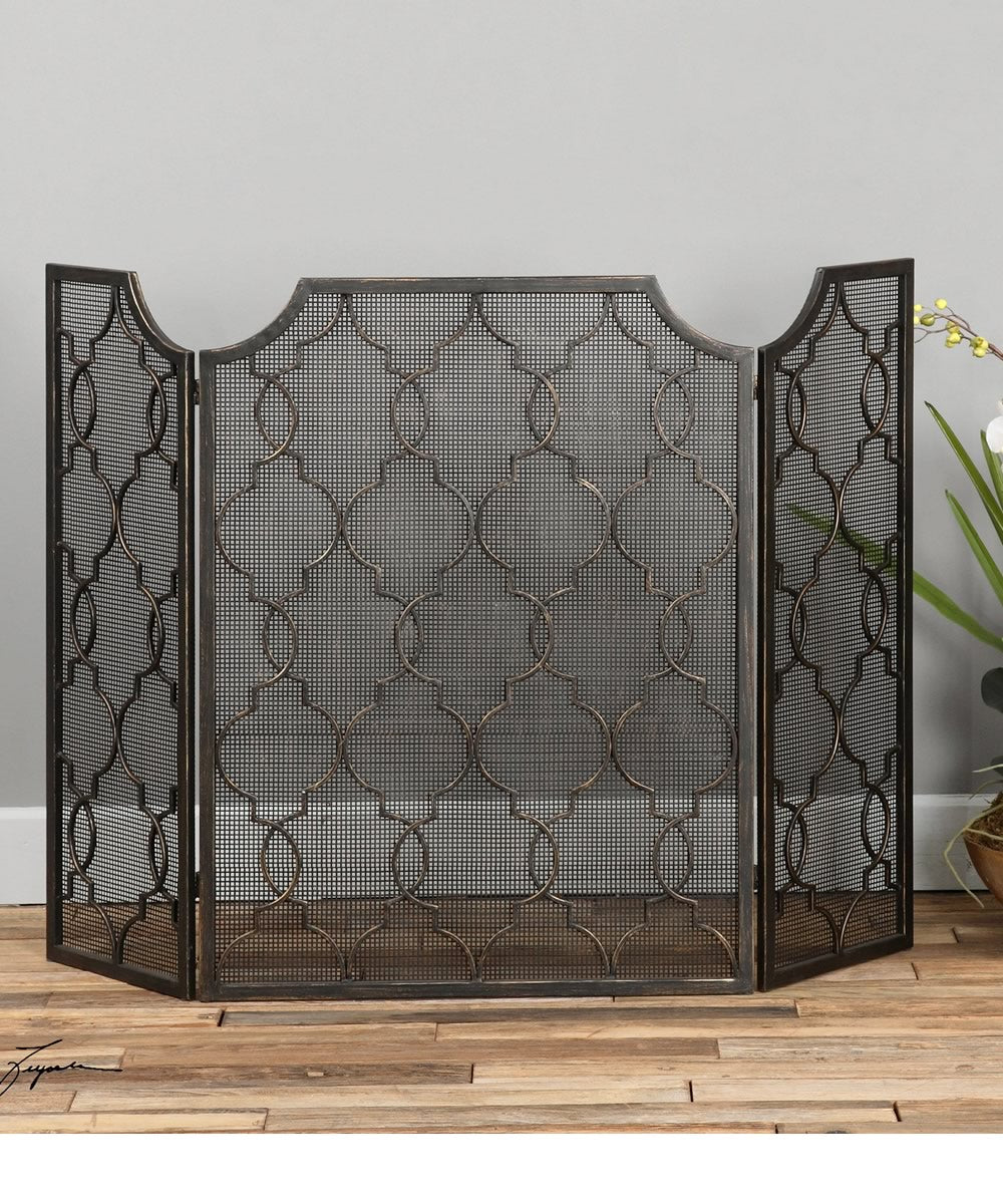 "35""H Charlie Fireplace Screen"