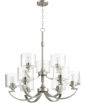"30""W Dakota 9-light Chandelier Satin Nickel"