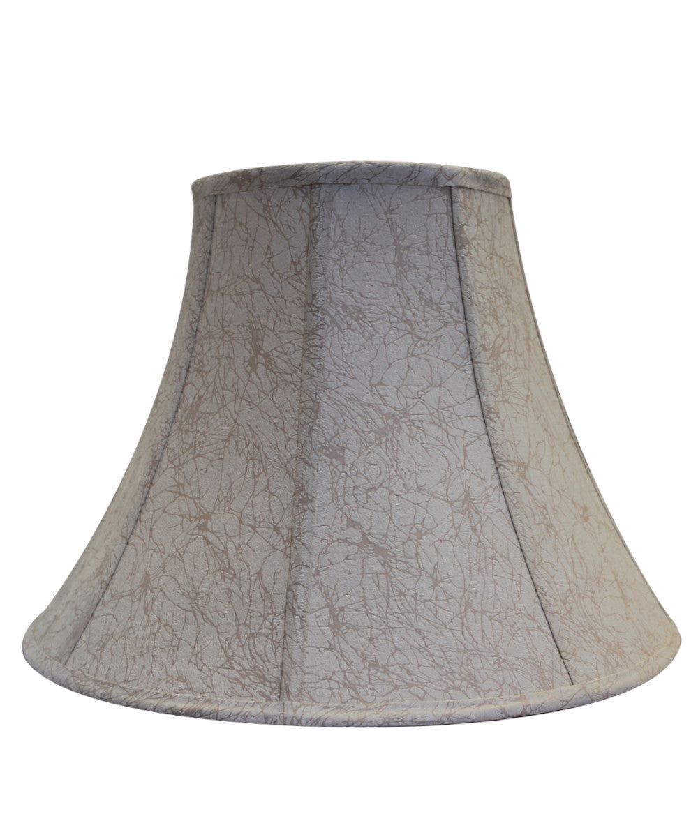 Silk Round Bell Soft Back Lamp Shade with Piping 8x17x12 Natural Silk Dolan Designs