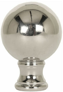 "2""H Sphere Finial Polished Nickel"