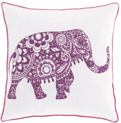 Medan Pillow White/Purple
